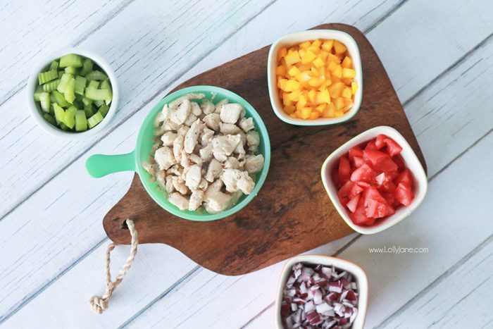 Firehouse Subs Copycat Chicken Salad, better than Mom used to make! Full of protein, veggies and low calories!