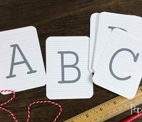 Free Printable Alphabet Cards