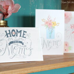 Free Printable Hand-Lettered Mother's Day Cards