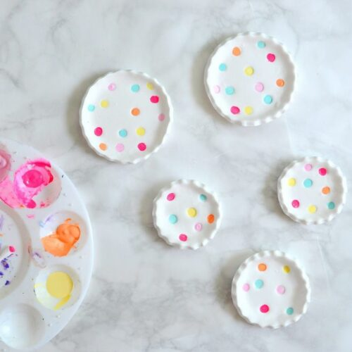 DIY polka dot ring dishes