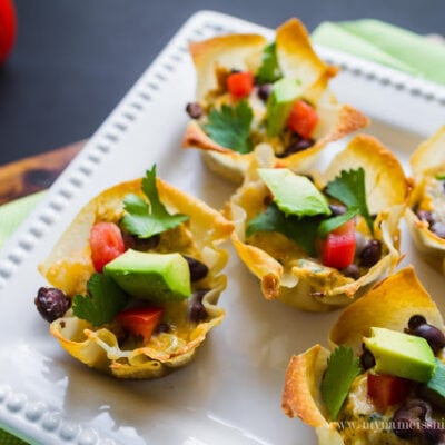 Green Chili Chicken Enchilada Cups