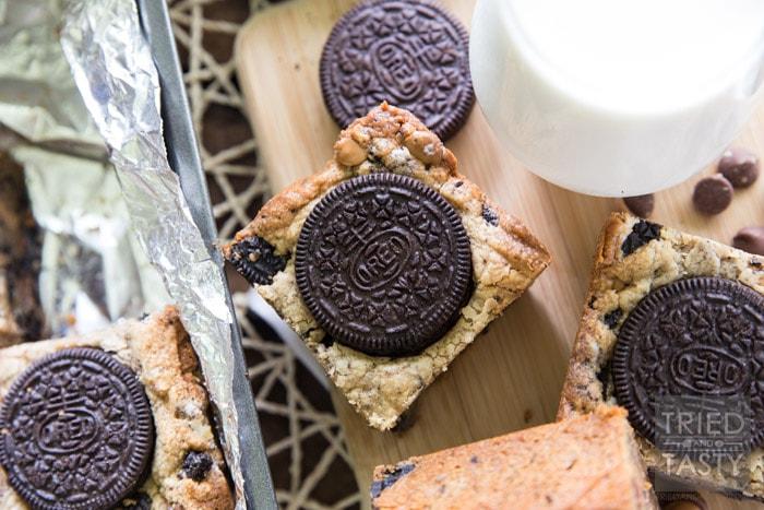 Peanut Butter Oreo Cookie Bars