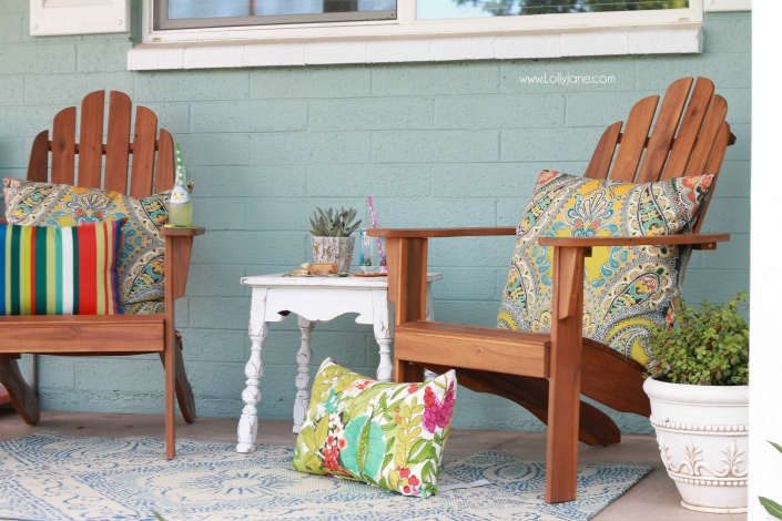 colorful front porch ideas