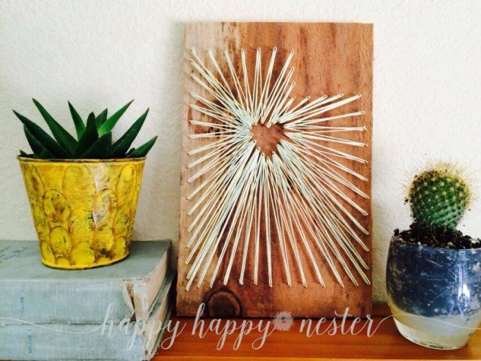 DIY Heart String Art |happyhappynester.com