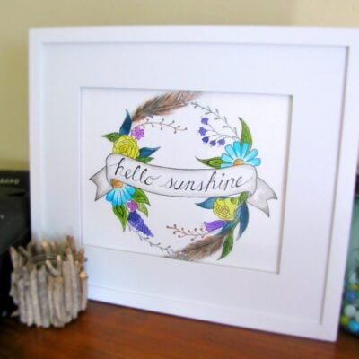 Watercolor DIY with Zentangle Flair + free print