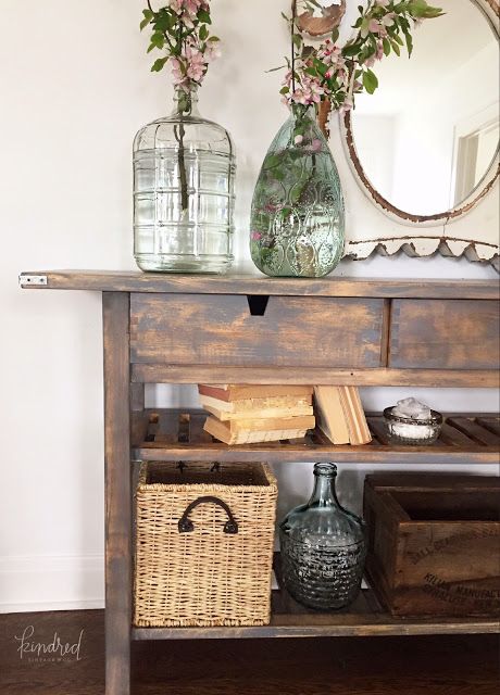 Gorgeous side table makeover. I can't belive the before picture!