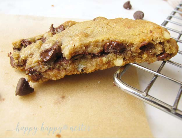 Brown Butter Chocolate Chip Cookies |Happy Happy Nester
