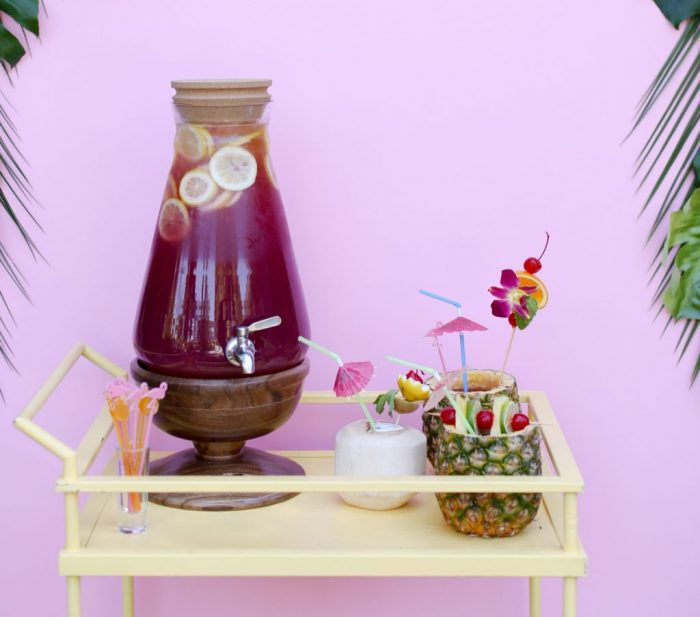 Try this cranberry pineapple lemonade, yum! Plus Top 5 punch recipes! Click through for 4 more yummy punch recipes plus luau party ideas!