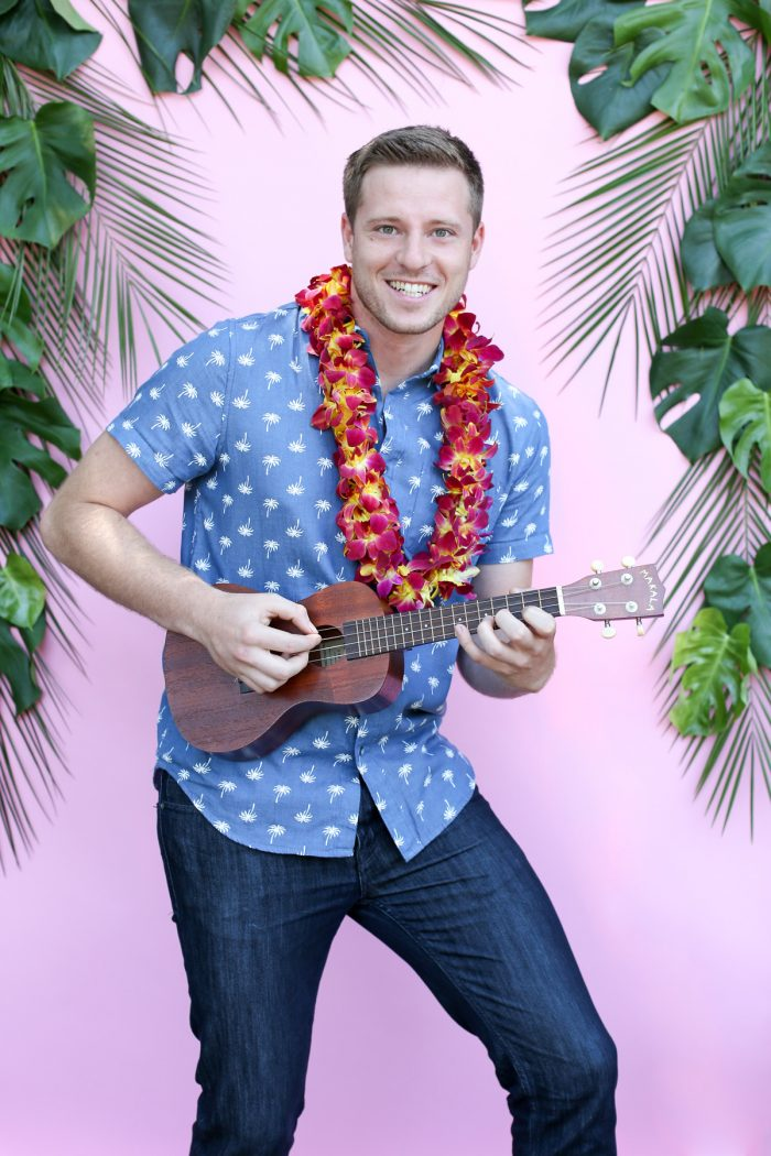 Play yukeleles for easy luau summer party entertainment ideas! Plus Top 5 punch recipes! Click through for 4 more yummy punch recipes plus luau party ideas!
