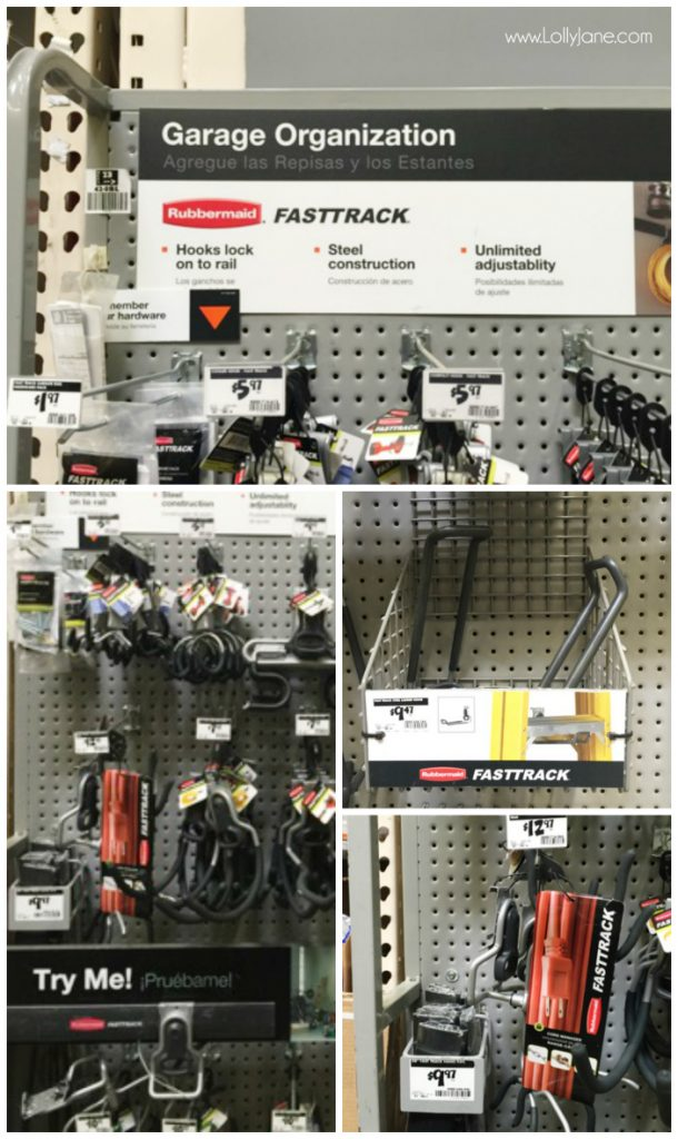 Rubbermaid Fast Track Garage Organization System