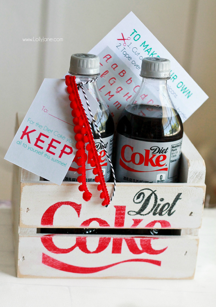 It's just an image of Crafty Diet Coke Bottle Label