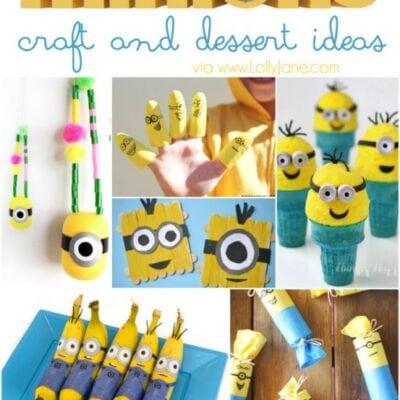 25+ minion crafts and dessert ideas