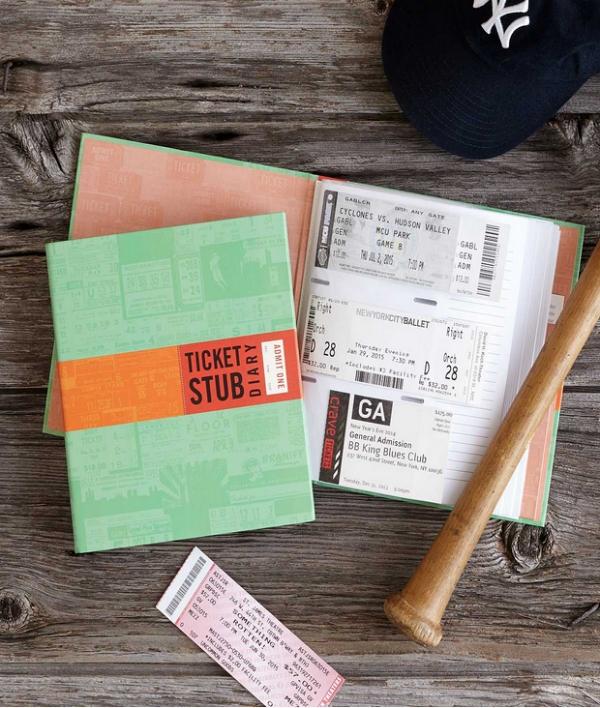 Ticket stub diary, great couple gift idea!