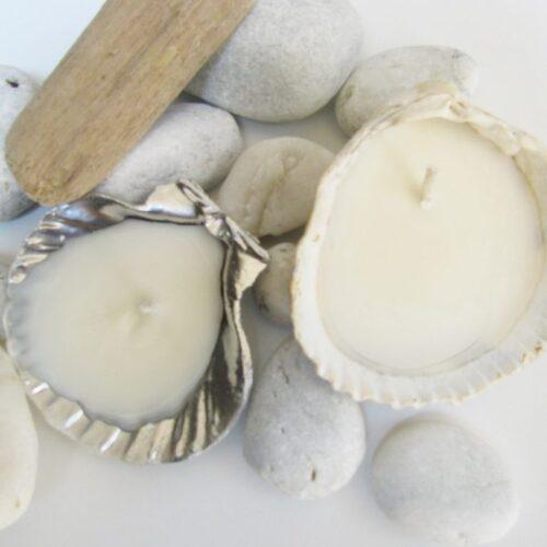 DIY Seashell Candle Tutorial |happyhappynester.com