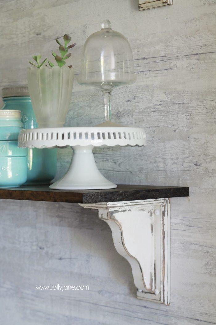 diy dining room shelves 700x1050 - 41+ Farmhouse Small Shelf Decor  Pictures