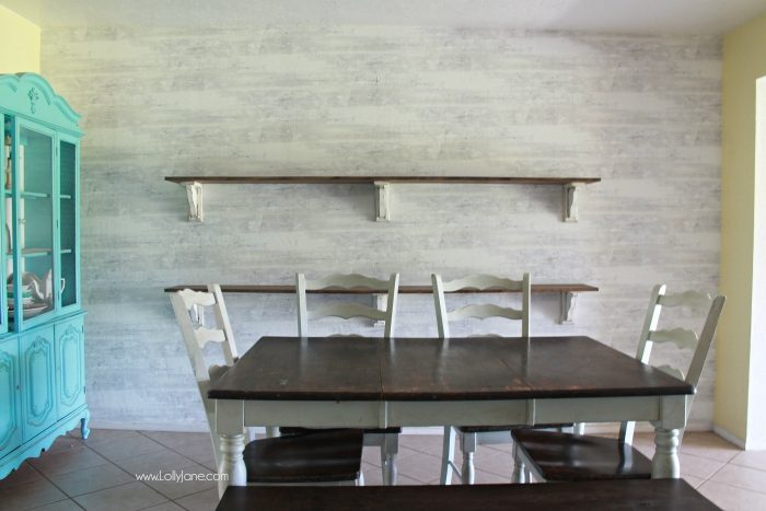 Pretty Farmhouse Dining Room Shelves, Click Through To See How Easily The  Room Came Together