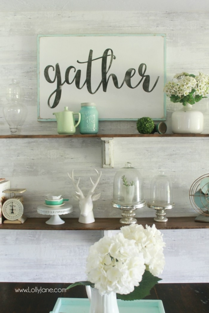 Gather Wood Sign Tutorial