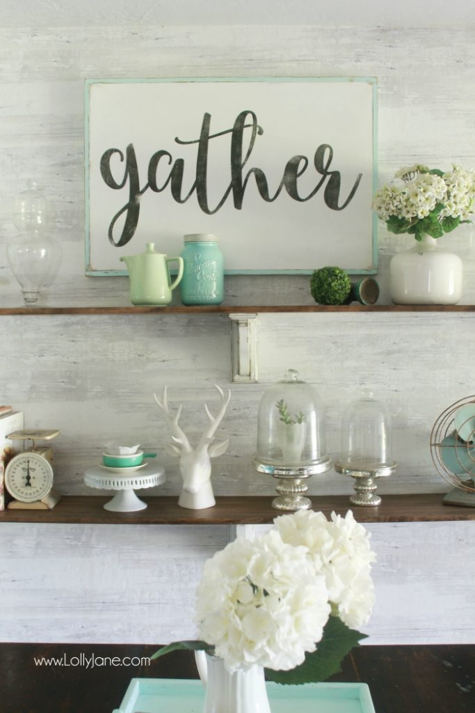 Pretty Farmhouse Dining Room Shelves Click Through To See How Easily The Came Together