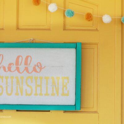 hello sunshine foam sign