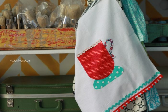 How to make a tea towel apron! So easy! Grab the kit at JoAnn's craft store, great afternoon craft idea!