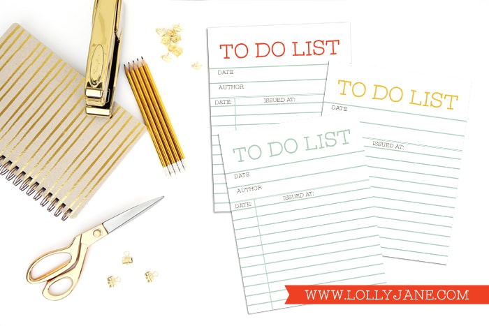 FREE Library Card Printable + TO DO list, cute for back-to-school! via Paperelli.com