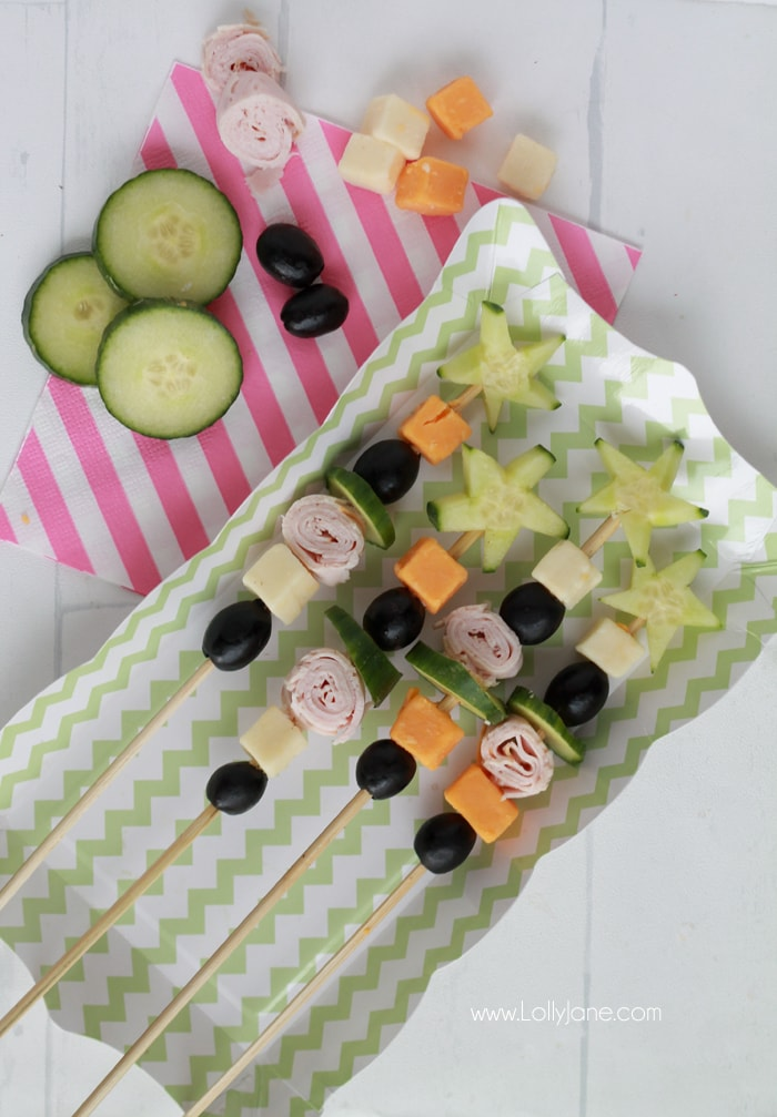 kids snack veggie skewers