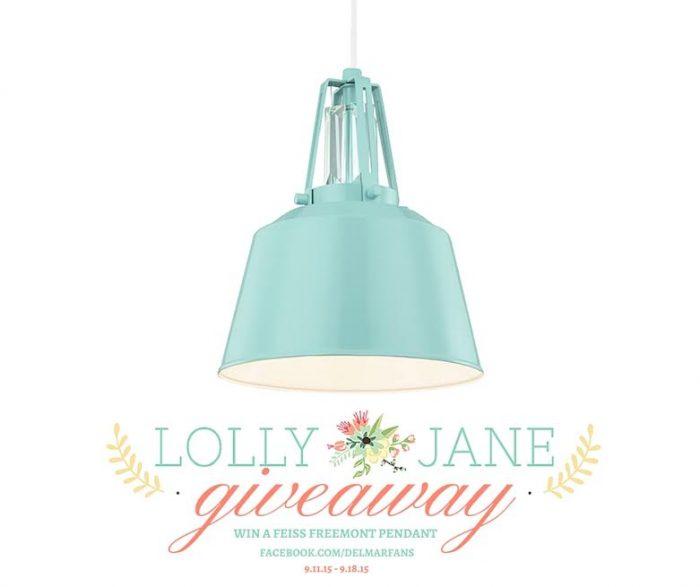Win this GORGEOUS Feiss pendant light! via LollyJane.com, good through 9/11/15 to 9/18/15