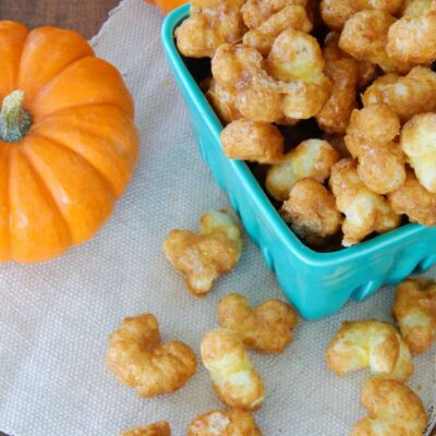 Pumpkin Spice Caramel Corn Pops recipe