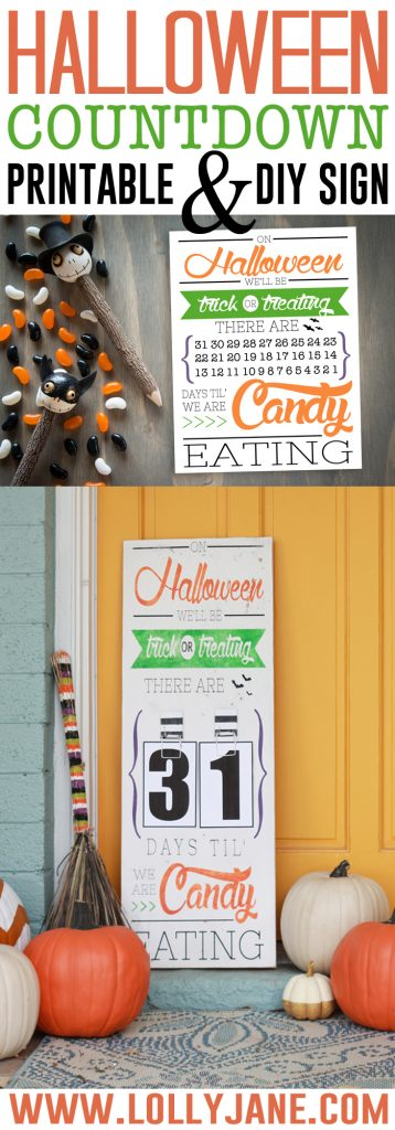DIY Halloween Countdown Board with FREE printable numbers! srcset=