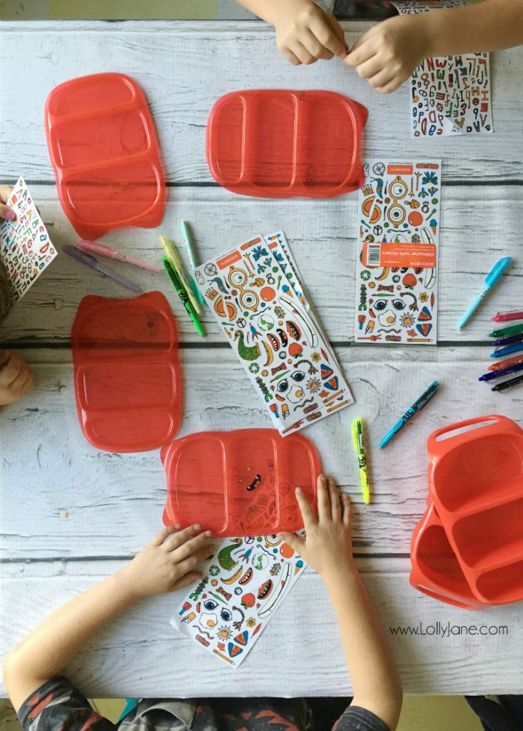 Bento Box Lunch Ideas! Lots of cute ways to spcie up your kids lunches! Love these Bento Box Washable Stickers too!