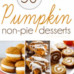 50+ non-pie Pumpkin Desserts