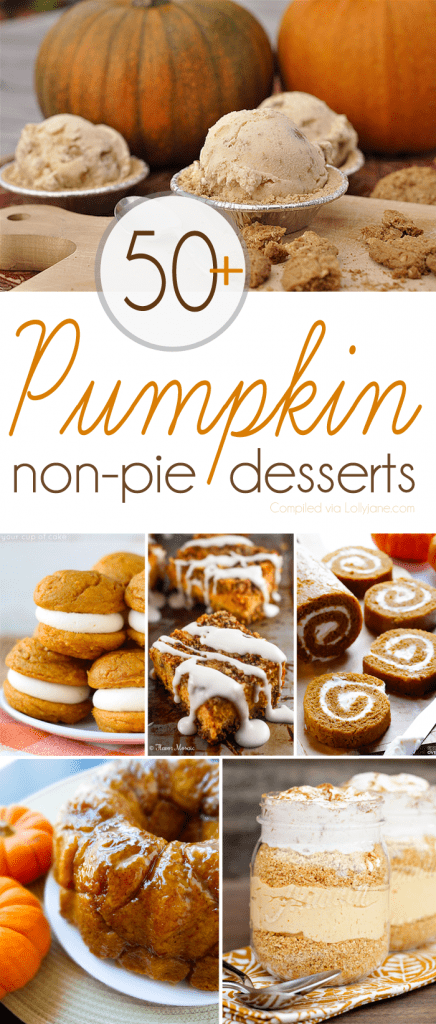 The BEST of all those pumpkin desserts recipes when you want something besides pie! Over 50+ YUMMY recipes! |via lollyjane.com