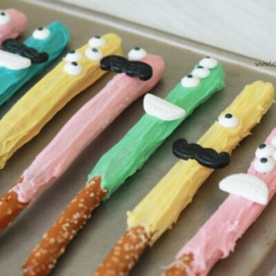 Kids Treat: Monster Pretzel Rods