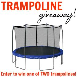 Win one of two trampolines! Giveaway!