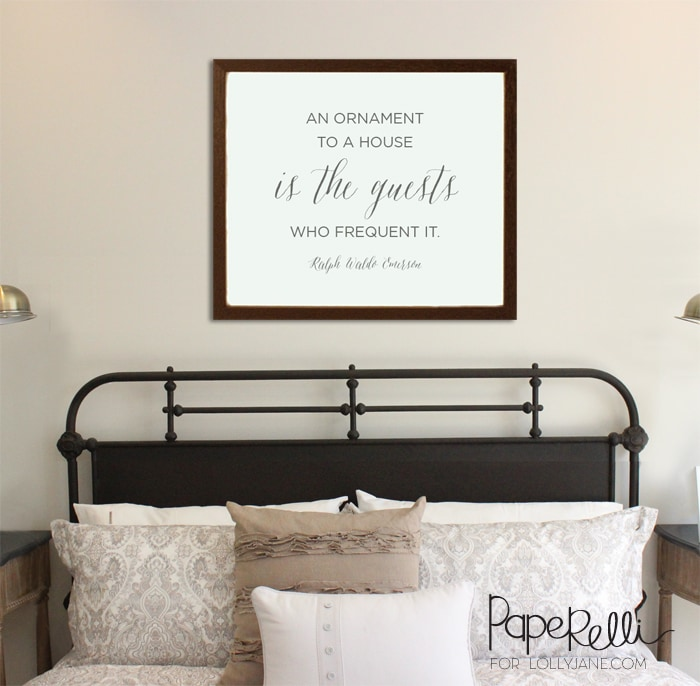 An Ornament to a House guest room free printable