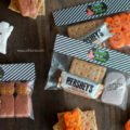 FREE Halloween S'More Treat Bag Toppers. Just toss a few graham crackers + Halloween PEEPS marshmallow + chocolate bar in a baggie then add a topper for an easy Halloween hand out!