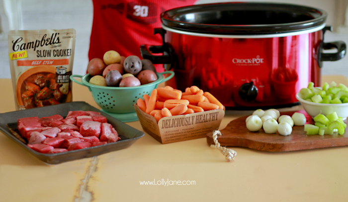 Easy Slow Cooker Beef Stew Recipe + Ingredients
