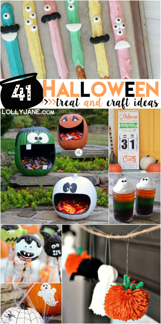 40+ Halloween treat and craft ideas! Lots of spooky decor and cute Halloween kid recipes!