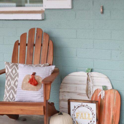 Easy fall pumpkin pillow