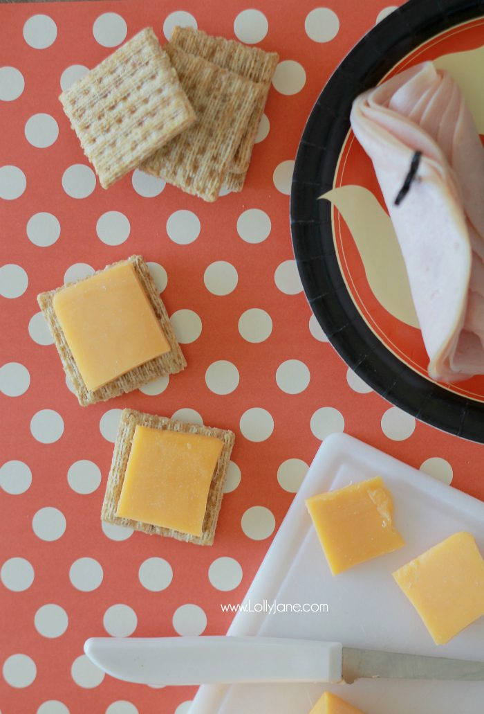 Halloween Party Cracker Appetizers, perfect for spooky parties!