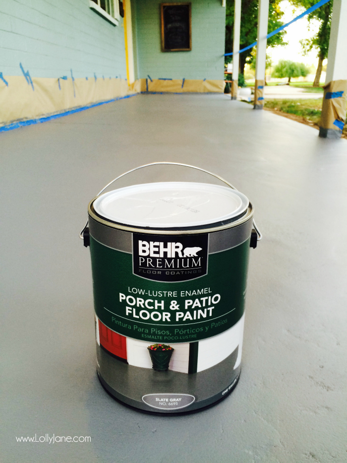 How To Paint Concrete Floors Use A Porch And Floor For Secure