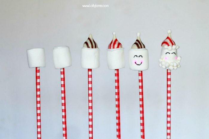 Cute Hot Cocoa Santa Stir Sticks tutorial!