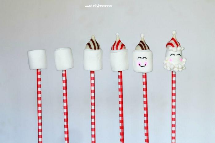 Candy Santa Cocoa Stir Stick