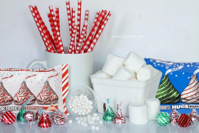 Cute Hot Cocoa Santa Stir Sticks tutorial!