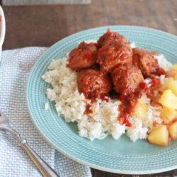 Easy Slow Cooker Hawaiian Meatballs recipe