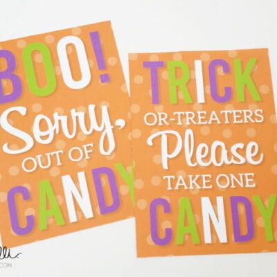 Printable Halloween Trick or Treat Signs