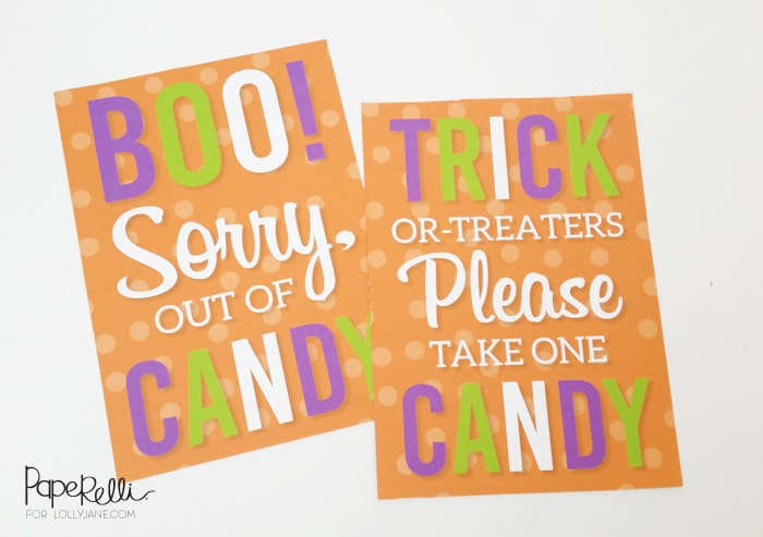 image regarding Please Take One Sign Printable identify Absolutely free Printable Halloween Trick or Take care of Symptoms