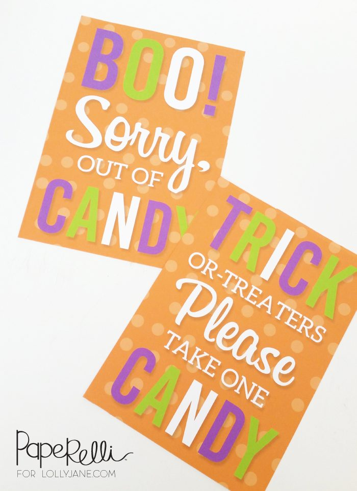 photograph about Please Take One Sign Printable identify Totally free Printable Halloween Trick or Handle Indicators