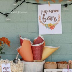 Easy Fall Popcorn Bar