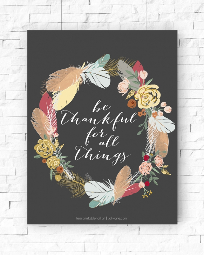Printable Fall Art | Download full resolution art at lollyjane.com